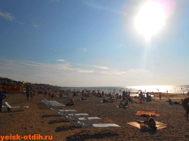 пляж каменка в ейске песочный песчаный