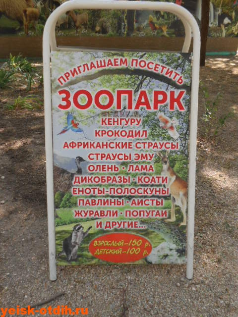 зоопарк в парке поддубного ейск