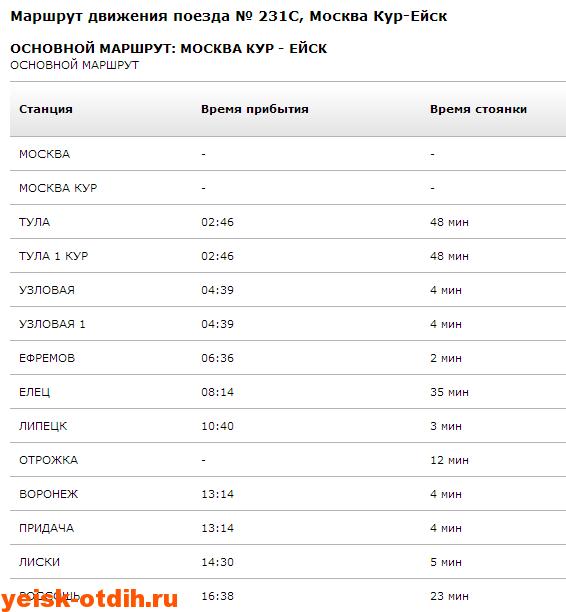 Москва ейск 1
