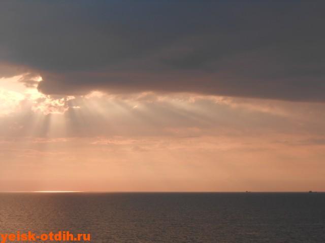 отдых в ейске в сентябре закат азовское море