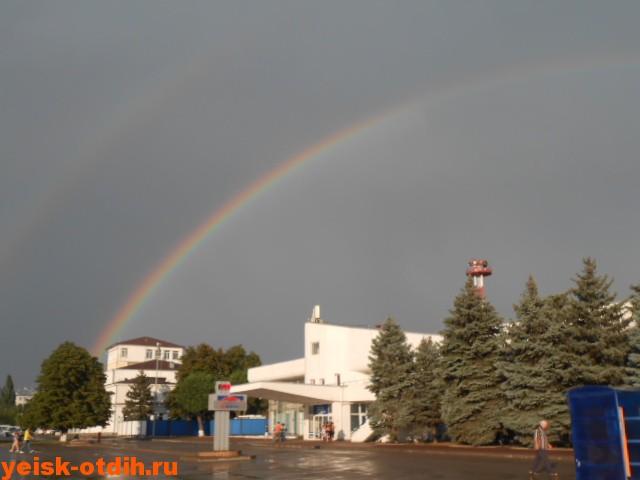 радуга над аэровокзалом ростова