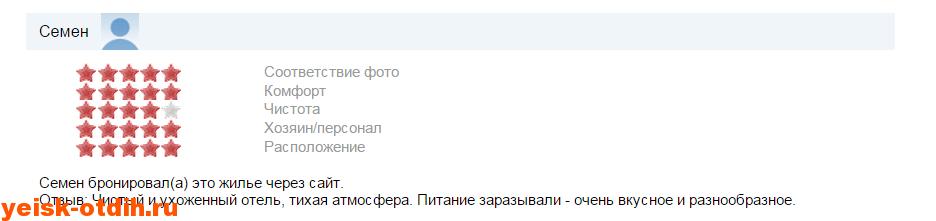 мини гостиница У Азовского моря отзыв