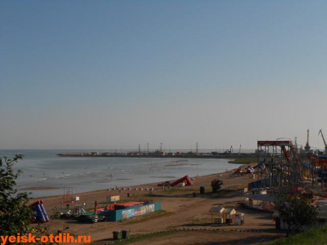 панорама пляжа в ейске