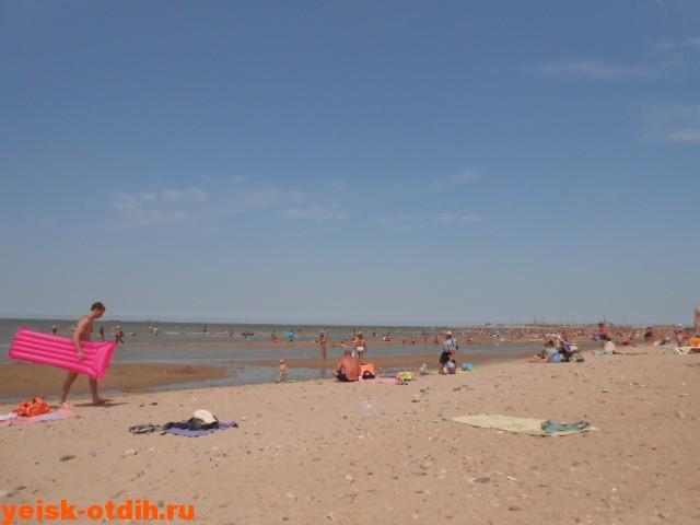 пляж каменка в полдень ейск