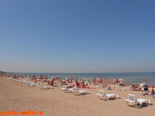 пляж ейск песок