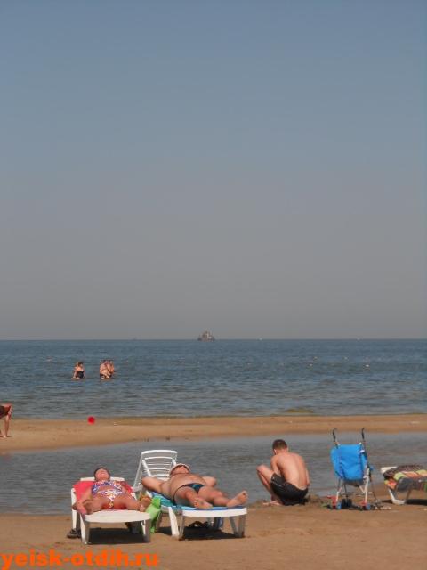 на пляже каменка в ейске
