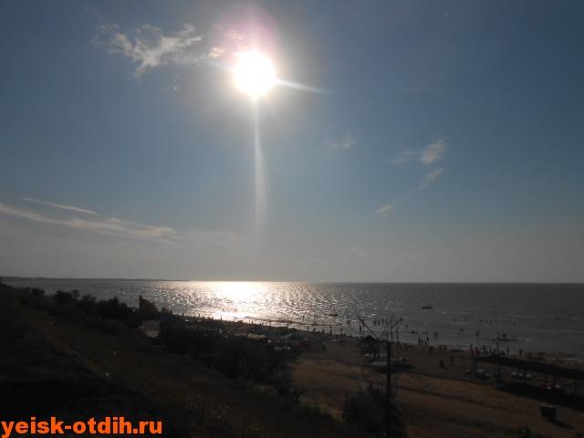 слонце над пляжем каменка ейск