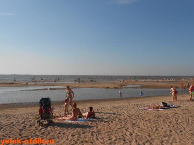 отдых с маленькими детьми на пляже каменка ейск