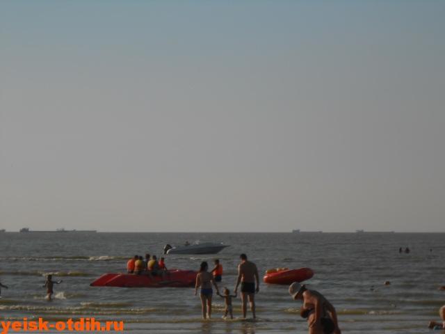 водные развлечения на пляже каменка ейск