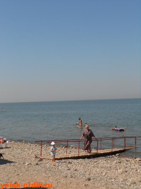 пляж в Ейске улица Приморская