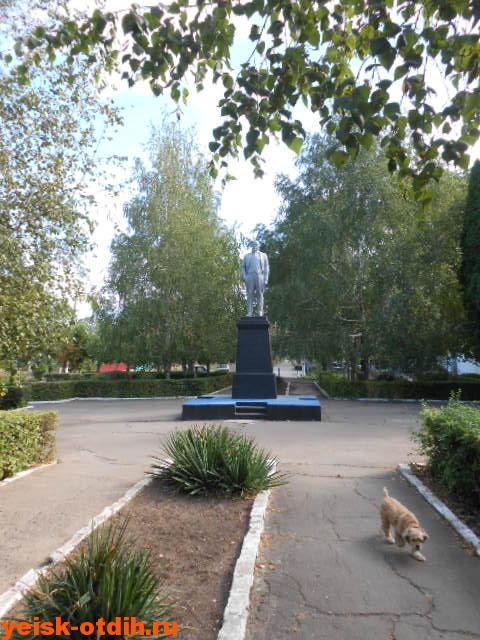памятник ленину поселок октябрьский ейск