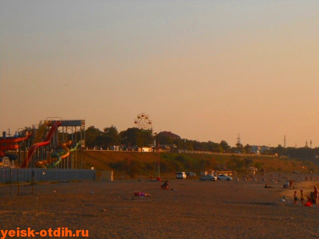 фото пляжа каменка в ейске