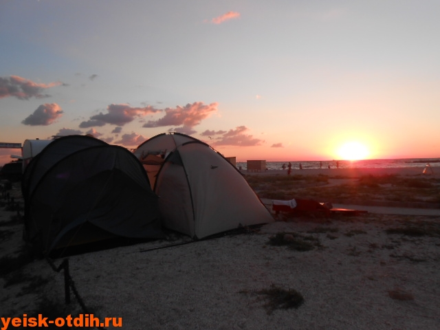палатки на косе ейск