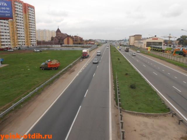 дорога Краснодар Ейск
